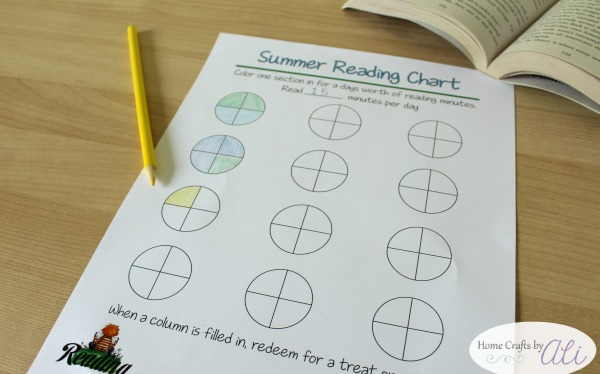 summer reading kids chart