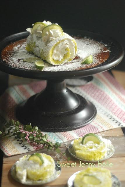 lime margarita cake roll for cinco de mayo dessert