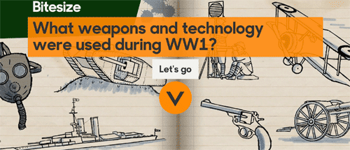 What weapons and technology were used during WW1?