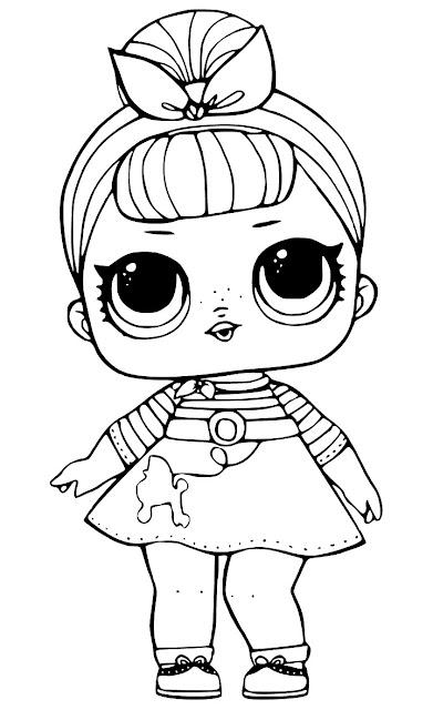 Desenhos para colorir boneca lol como fazer for Big girl coloring pages