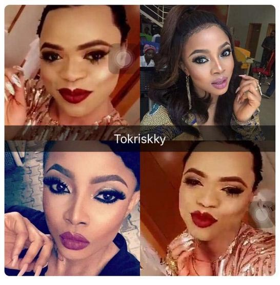 Lol. So they say Bobrisky and Toke Makinwa could be related