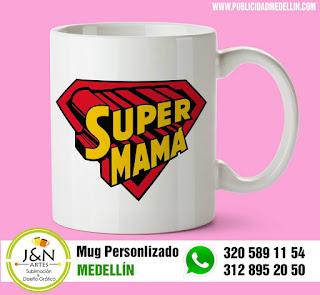 Vasos perosnalizados en Medellin Super mama