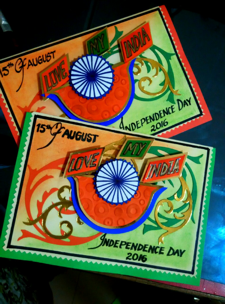 Card Making Ideas Independence Day Part - 41: Independence Day Card. Handmade Card By Anindita Mau0027am