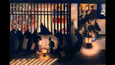 Night Scene in The Yoshiwara, O-Ei Katsushika Hokusai