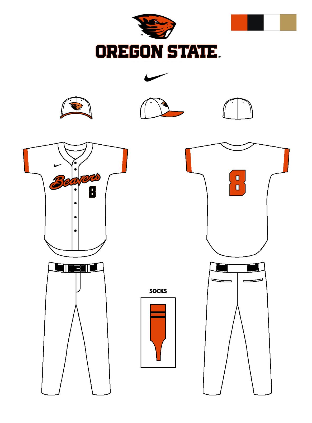 Oregon State Baseball Uniforms Concepts Chris Creamer
