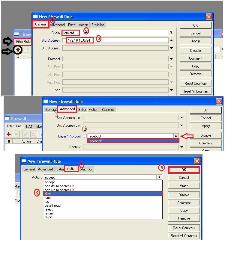 How to block website in Mikrotik Router via Winbox | Online