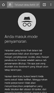 Cara Masuk Tab Incognito Chrome HP