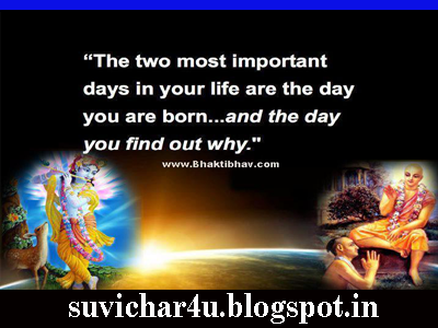 The two most Important days in your life are the day you are born and the day you find our why.