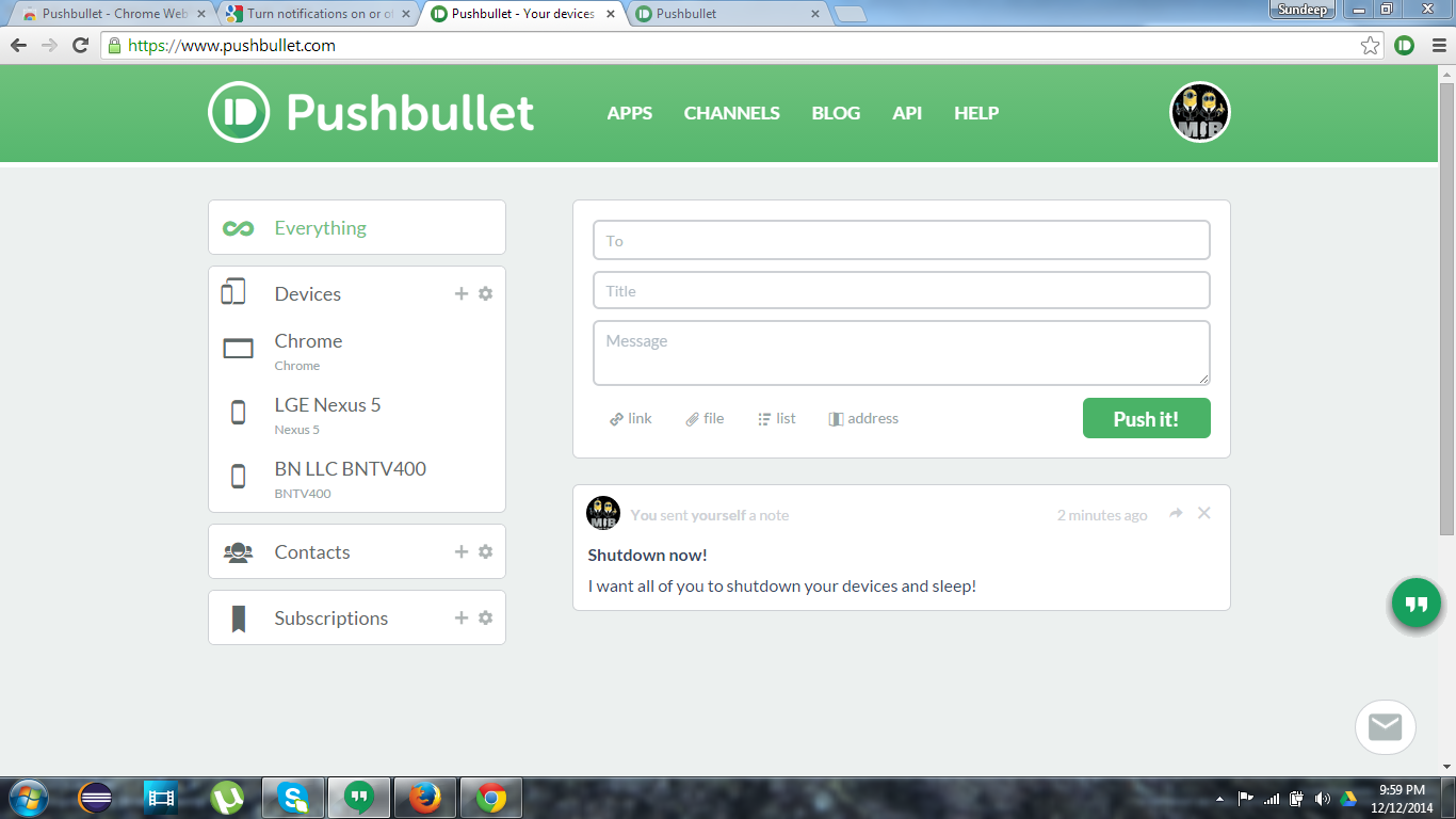 pushbullet-chrome-extension
