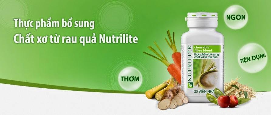 Công dụng Nutrilite chewable fire blend chất xơ của Amway từ rau củ quả giá rẻ
