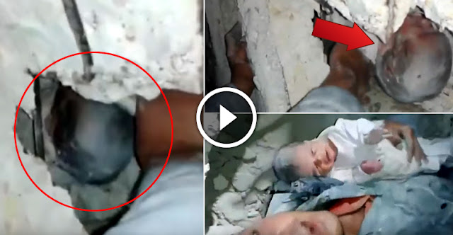 Miracle - New Born Baby Rescued From The Rubble Of Building!