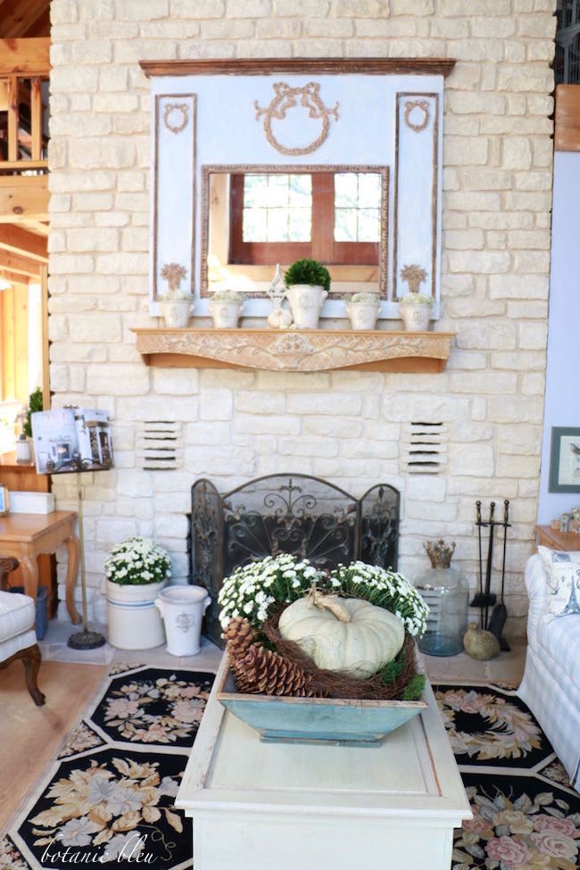 Botanic Bleu Fall French Country Living Room