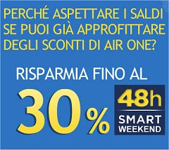 promozione Air One smart weekend