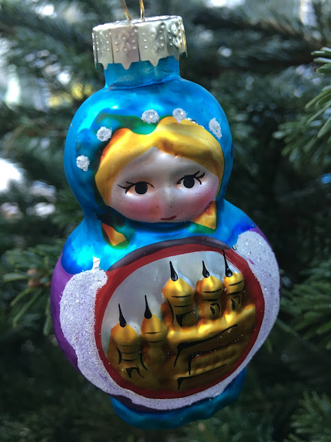 babushka doll traditional glass Christmas Ornament #mysundayphoto