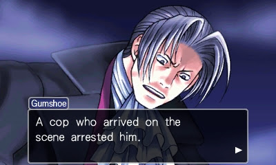 Phoenix Wright Ace Attorney Miles Edgeworth Robert Hammond Turnabout Goodbyes boat jacket shocked shot murderer