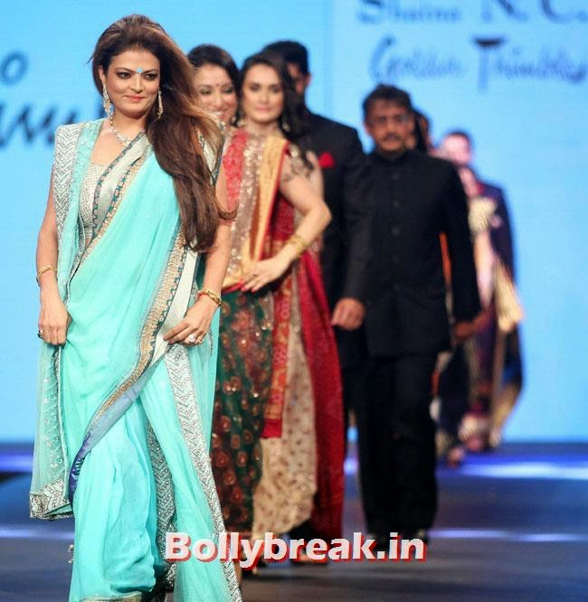 Sheeba, Beautiful Bhagyashree, Gauhar, Tara, Perizad, Divya at Cancer Fundraiser Fashion Show