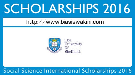 Social Science International Scholarships 2016