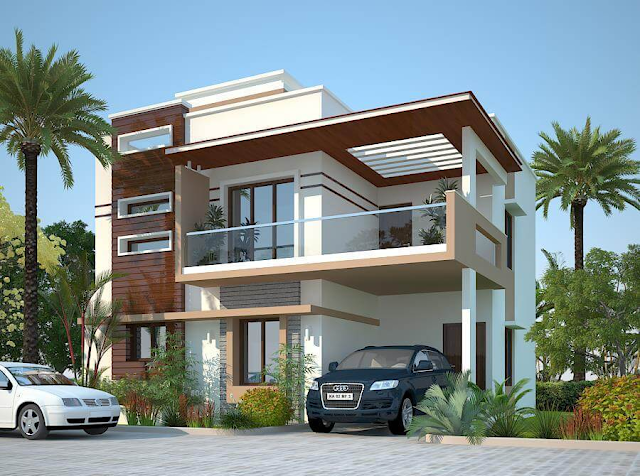 Duplex Double Story House Front Elevation 3D Designe Photo Picture & Wallpapers
