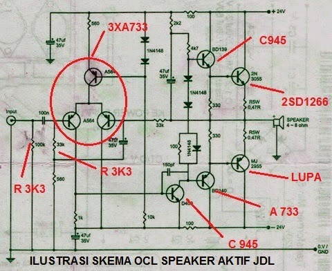 modif amplifier model OCL