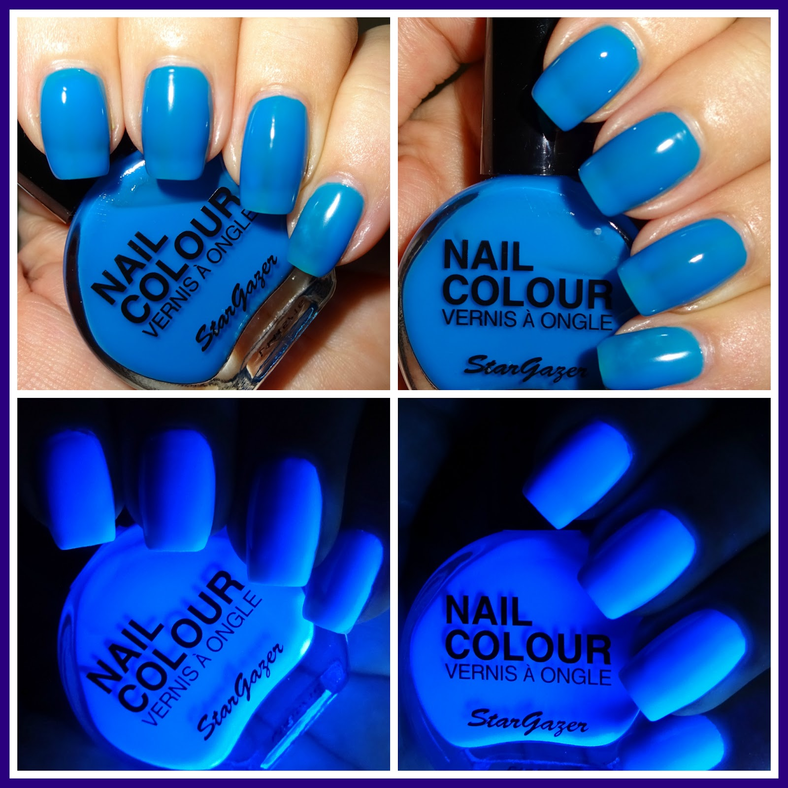 Neon Blue Nail Polish: Wendy's Delights: Stargazer Neon Blue Nail Polish