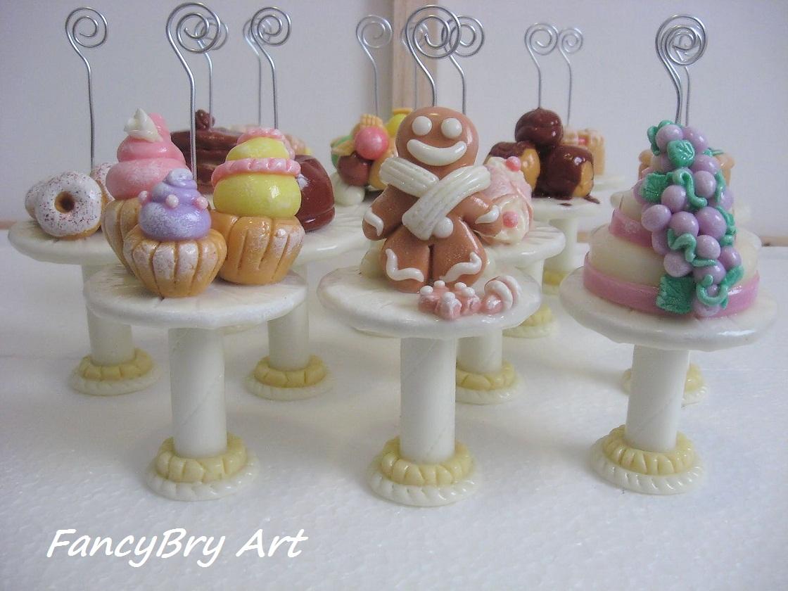 FancyBry Art: Alzatine segnatavolo con dolci in pasta di ...