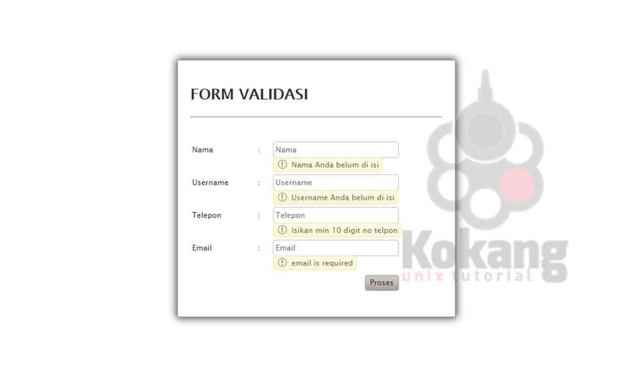 Download Form Validasi (Validator) dengan php dan jQuery