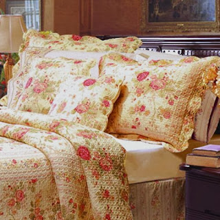 Chic Shabby Romantic Rose Bedding Cotton Quilt Set King Size