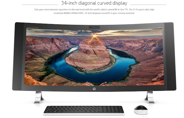 Envy Curved All-in-One 34 With unique features like a pop-up privacy camera and mic, up to Intel® Core™ i7 processor4, and up to 16GB of RAM