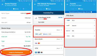 metode pembayaran via bank di traveloka