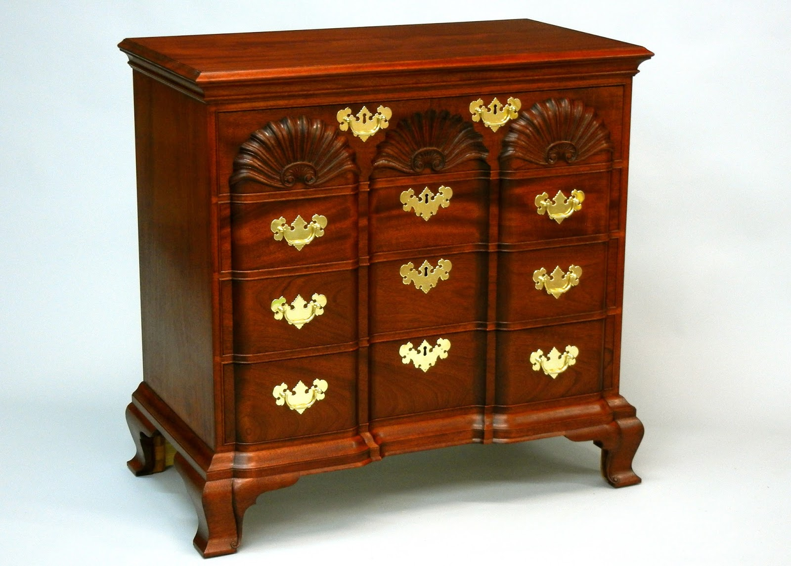 mahogany cherry walnut tiger maple chest of drawers