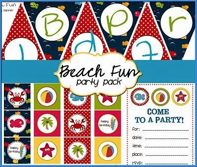Free Printable Beach Fun Party Pack
