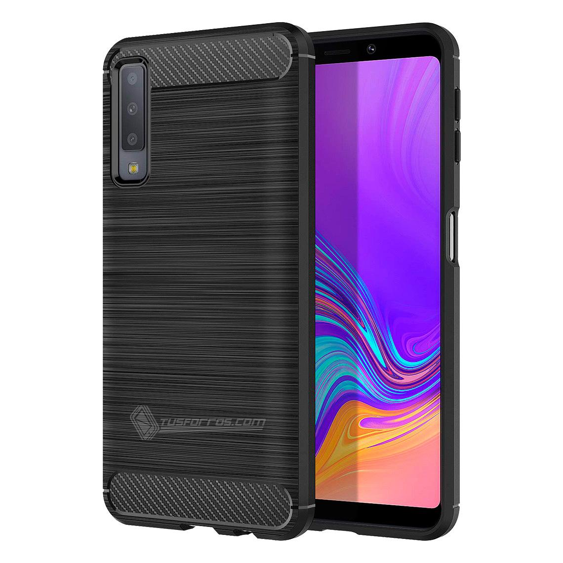 Samsung Galaxy A7 2018 Forro Fibra De Carbono Anti-Shock Máxima Protección
