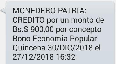 Pago Bono Economía Popular Segunda Quincena Diciembre /2018 (TRABAJADORES INDEPENDIENTES)