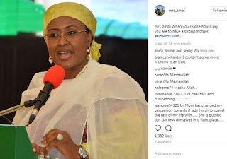 Zahra Buhari shows that she's proud of her Mother (see how)
