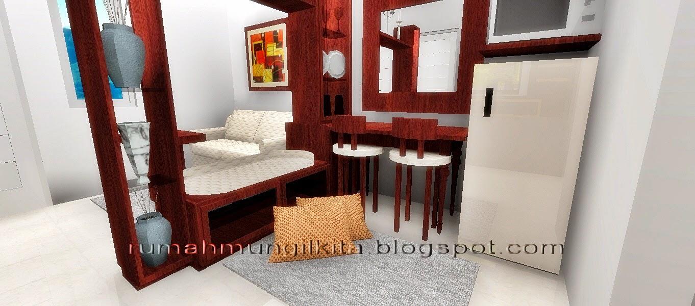 Gambar Desain Penyekat Ruang Tamu Dan Ruang Keluarga  Interior Rumah