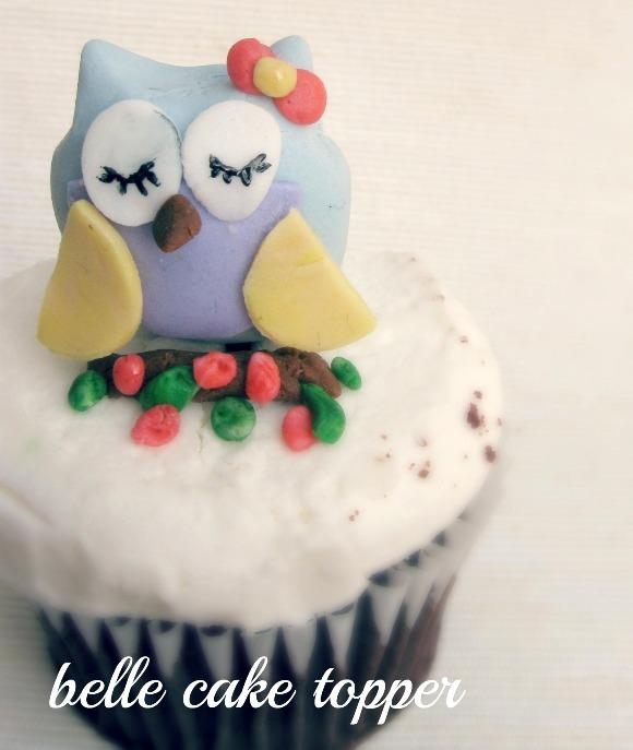 DIY Owl Cupcake Fondant Toppers - via BirdsParty.com