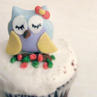 DIY Owl Cupcake Fondant Toppers