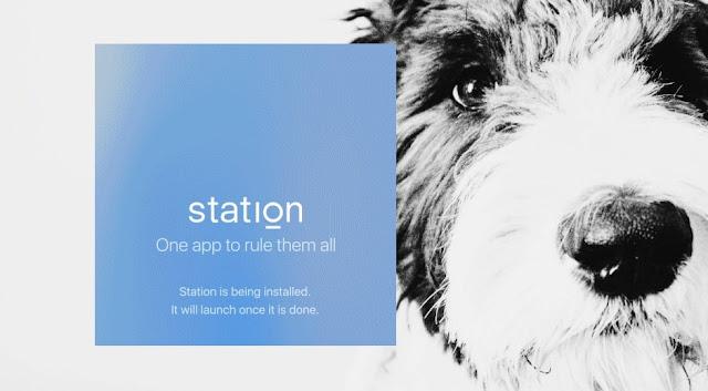 Station - agregacja aplikacji webowych przeglądarka praca skupienie produktywność