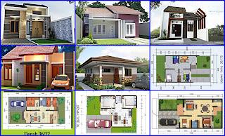 Contoh Denah dan Desain Rumah Type 36