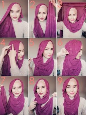 Tutorial Hijab Praktis Tanpa Menggunakan Banyak Jarum