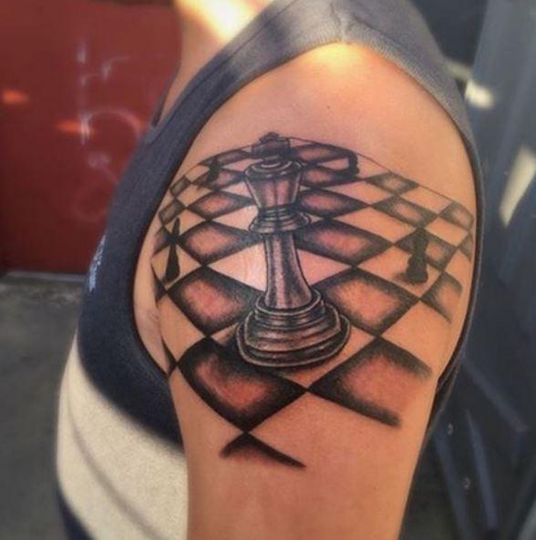 King Chess Piece Tattoo Design