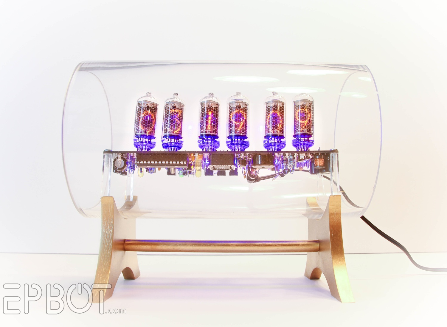 EPBOT: Our Glass Nixie Clock Case!