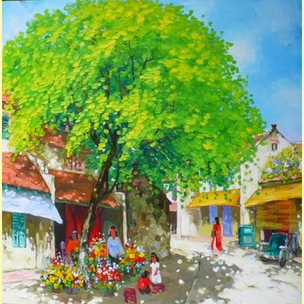 Primavera - Pinturas do vietnamita Lam Duc Manh