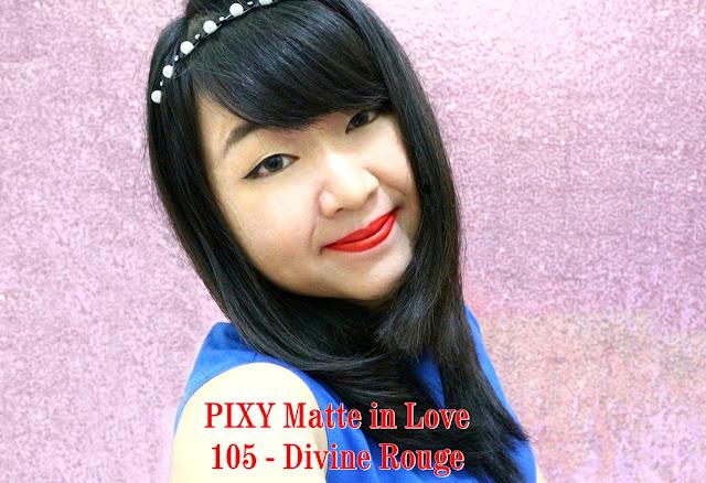 PIXY Matte in Love Lipstick 105 Divine Rouge