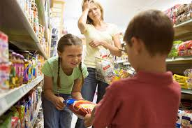 Children whining in the supermarket?