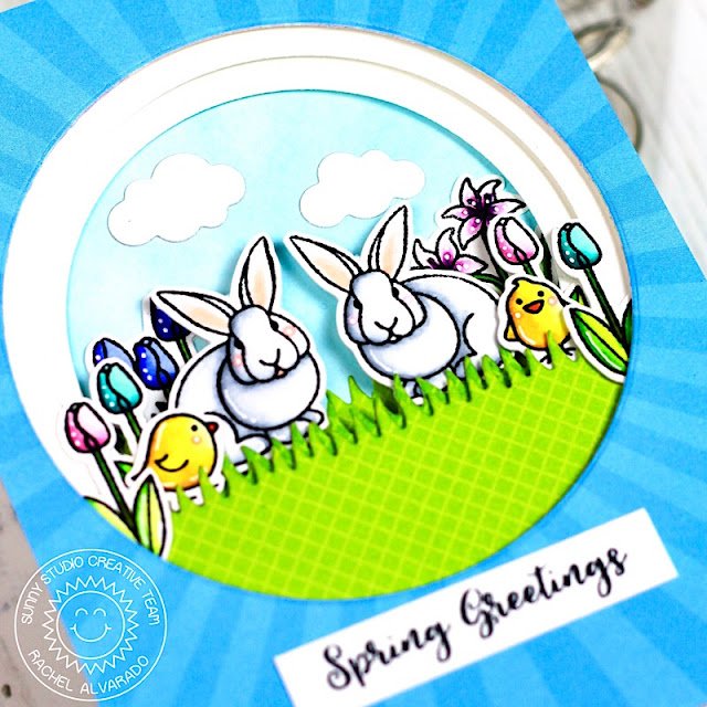 Sunny Studio Stamps: Spring Greetings Easter Wishes Spring Themed Spring Greetings Card by Rachel Alvarado
