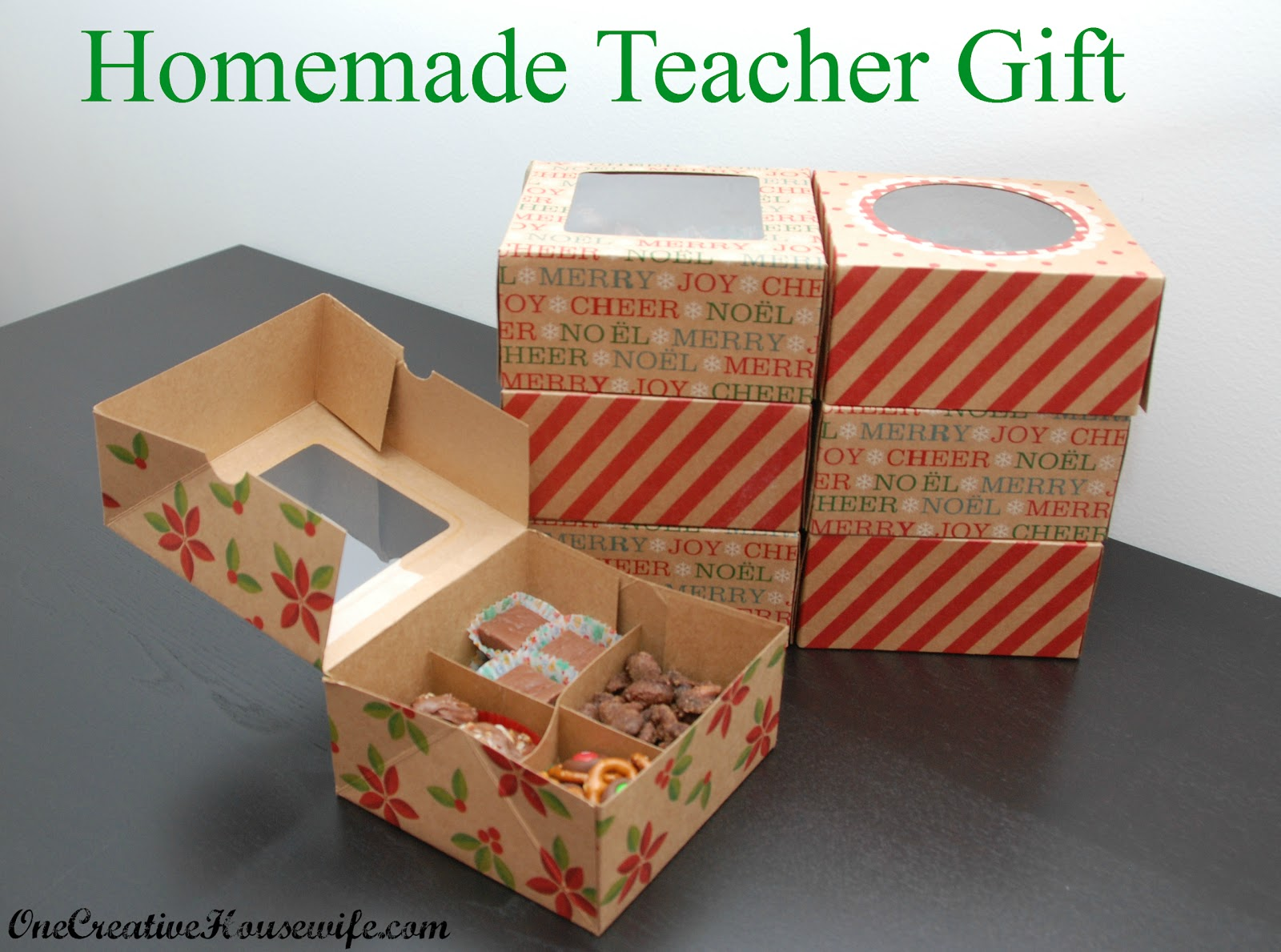 Christmas Homemade Gifts One Creative Housewife Homemade Christmas Gift For Teachers