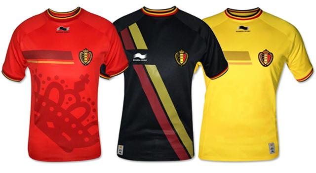 Camisetas selección Bélgica Mundial 2014