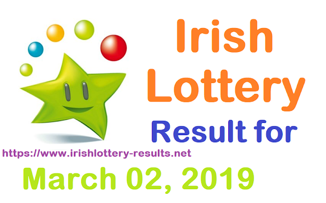 Irish Lottery Results for Saturday, 02 March 2019