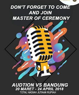 casting audisi host presenter mc master ceremony di bandung